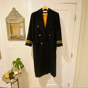 Christian Dior Vintage Double Breasted Wool Coat